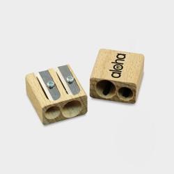 Wooden Pencils Sharpeners, Double