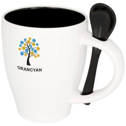 Nadu 250 ml ceramic mug with spoon