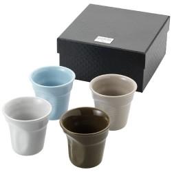 Milano 4-piece ceramic espresso cup set