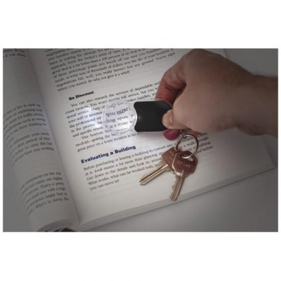 Zoomy magnifier keychain light