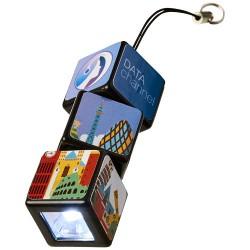 Rubik's® LED flashlight with key loop