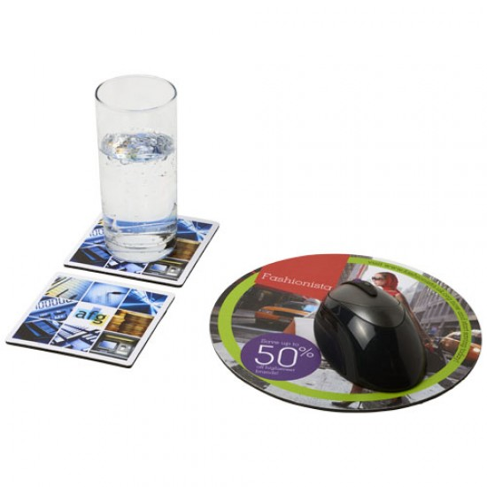 Q-Mat® mouse mat and coaster set combo 6