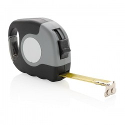 Measuring tape with carabiner, grey