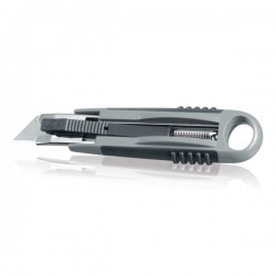 Retractable cutter softgrip, grey