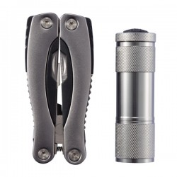 Multitool and torch set, grey