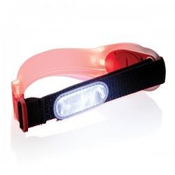 Safety led strap, red