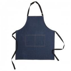 Deluxe denim apron, blue