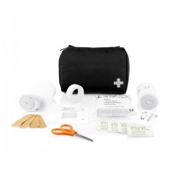 Mail size first aid kit, black
