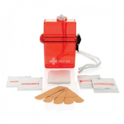 Waterproof first aid kit, red