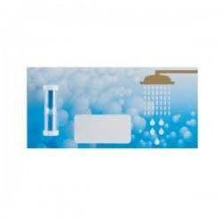 Mini shower coach, blue