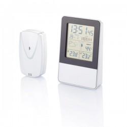Indoor/outdoor weather station, silver