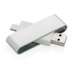 Pivot USB with type C, grey