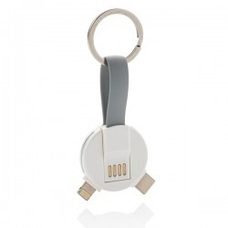 3-in-1 round cable, white