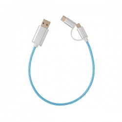 3-in-1 flowing light cable, blue