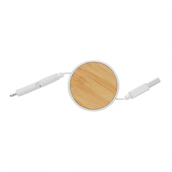 Ontario 3-in-1 retractable cable, white