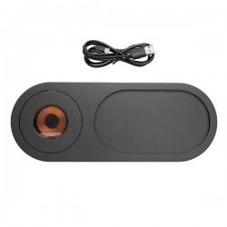 Encore 10W wireless charging valet tray, black