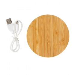 Bamboo 5W Wireless Charger, brown