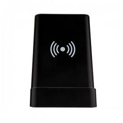Light up logo 5W wireless charging pen holder, black