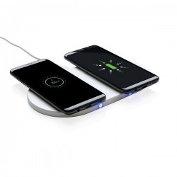 Double 5W wireless charger, white