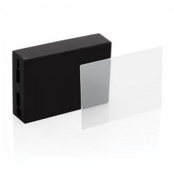 Tempered glass 5.000 mAh wireless powerbank, black