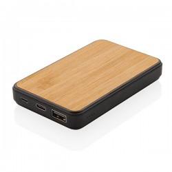 Bamboo 5.000 mAh Fashion Pocket Powerbank, black