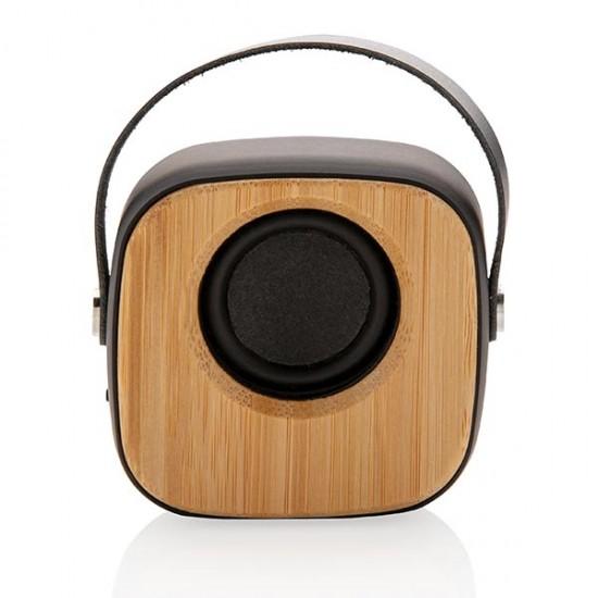 Bamboo 3W Wireless Fashion Speaker, black