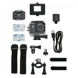 Action camera inc 11 accessories, black