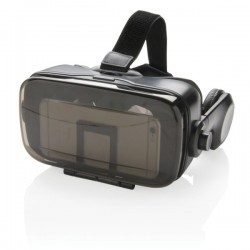 VR glasses with integrated headphone, black