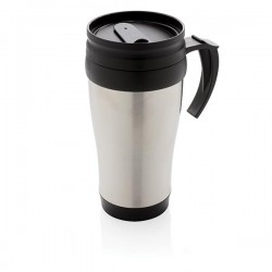 Stainless steel mug, silver