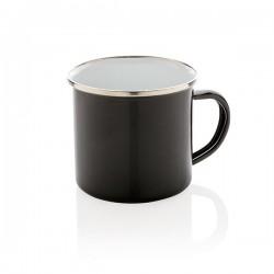 Vintage enamel mug, black