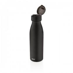 Swiss Peak vacuum bottle with mini true wireless earbuds, bl