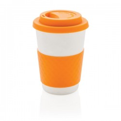 Plant fibre cup, orange