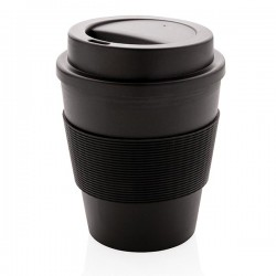 Reusable Coffee cup with screw lid 350ml, black