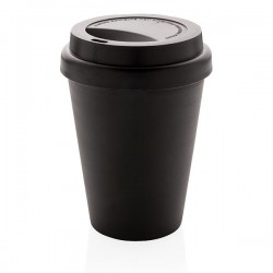 Reusable double wall coffee cup 300ml, black