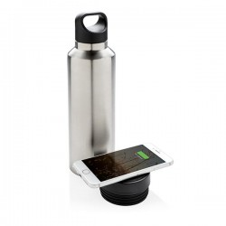 Vacuum flask with wireless charging, grey