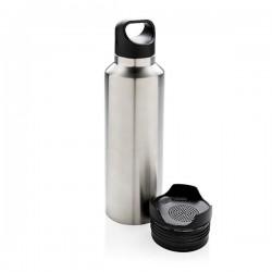 Vacuum flask with wireless speaker, grey