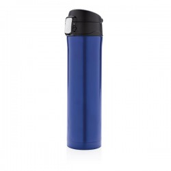 Easy lock vacuum flask, blue