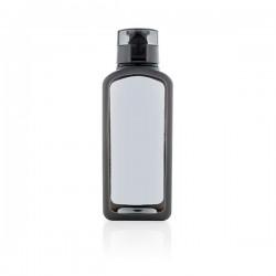 Squared lockable leak proof tritan water bottle, black