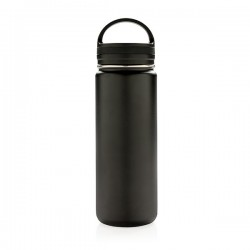 Vacuum insulated leak proof wide mouth bottle, black