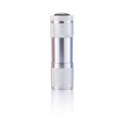 Quattro aluminium torch, silver