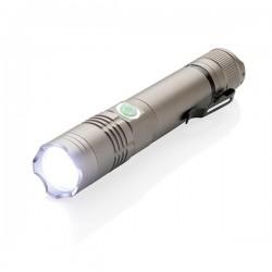 Rechargable 3W flashlight, grey
