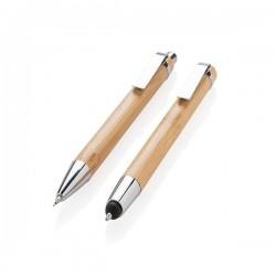 Bamboo pen set, brown
