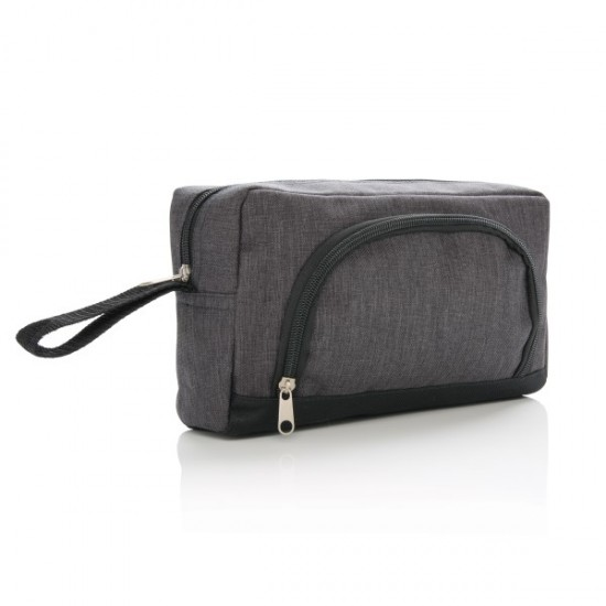 Classic two tone toiletry bag, anthracite