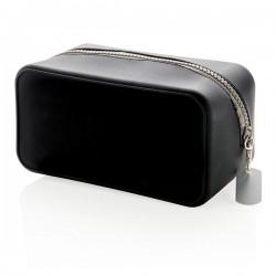 Leak proof silicone toiletry bag, black