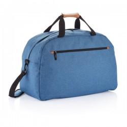 Fashion duo tone travel bag, blue