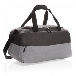 Duo color RPET RFID weekend bag PVC free, grey