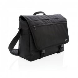 """Swiss Peak RFID 15"""" laptop messenger bag PVC free, black"""