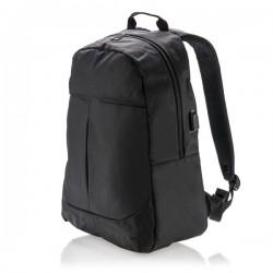 Power USB laptop backpack, black