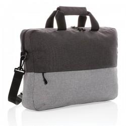 "Duo color RPET 15.6"" RFID laptop bag PVC free, grey"