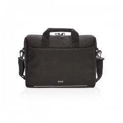 Swiss Peak RFID laptop bag PVC free, black